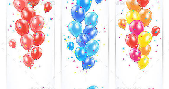 Box three 20banners 20with 20colorful 20balloons 201