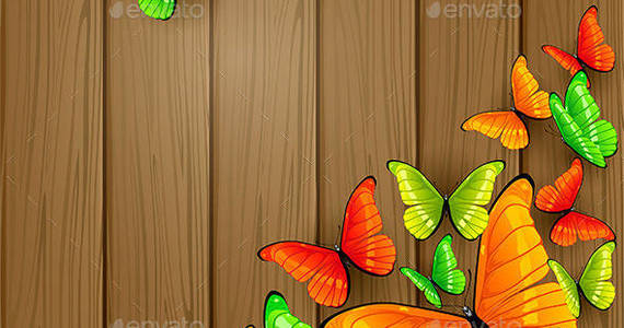 Box colorful 20butterflies 20on 20wooden 20background 201