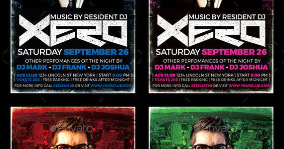 Box dj flyer
