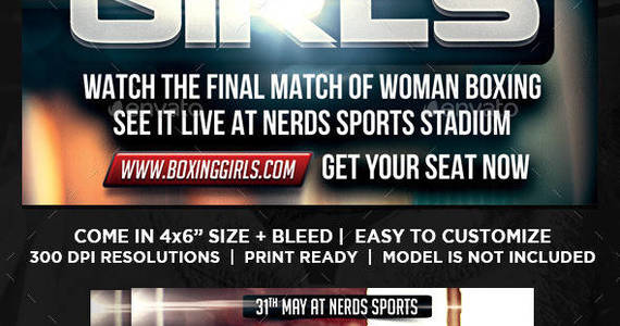 Box boxing 20girls 20sports 20flyer 20preview