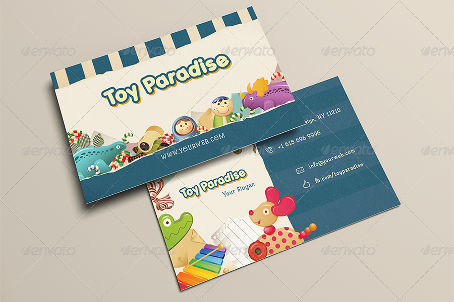 Kid Toy Paradise Business Card Themestack