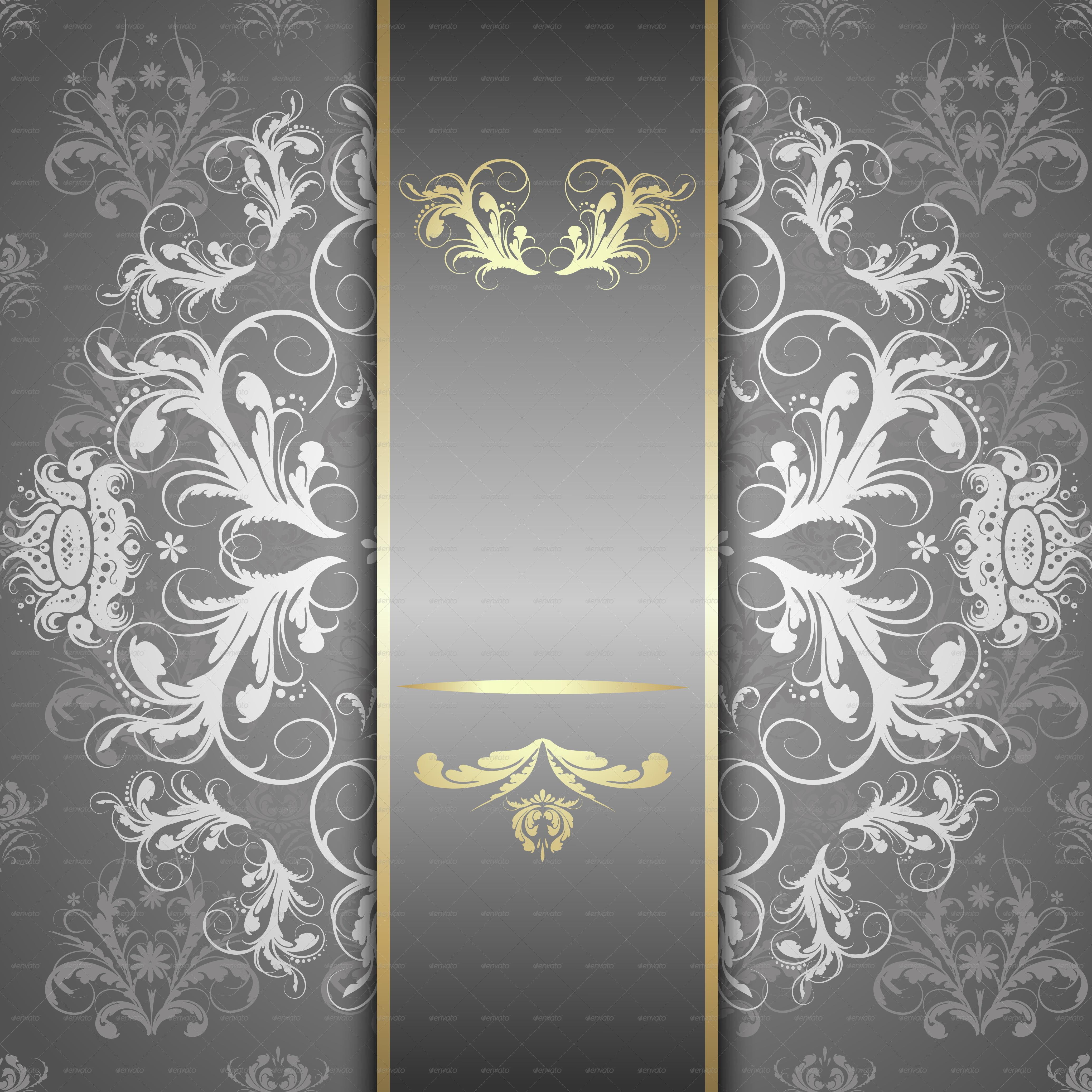 Silver pattern background themestack
