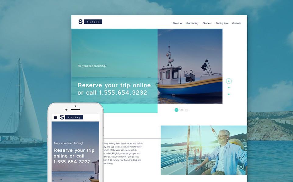 шаблон html5 рыбалка