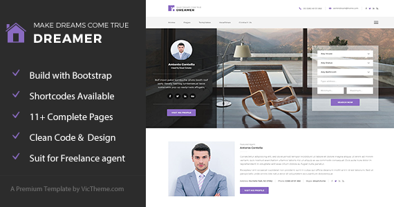 Box dreamer html themeforest preview.  large preview