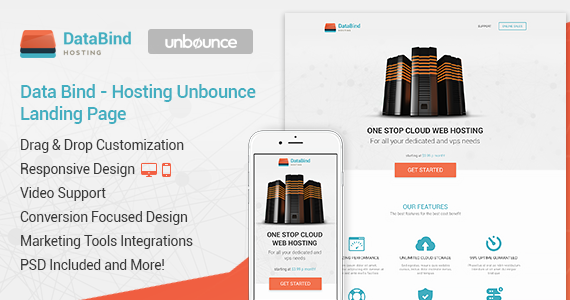 Box 01 data bind hosting unbounce landing page.  large preview