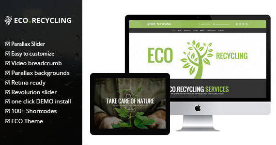Box ecorecycling wordpress theme.  large preview