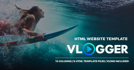 Box 00 vlogger themeforest preview html template.  large preview