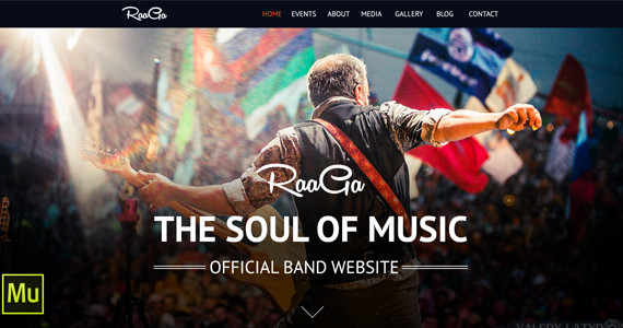 Box 590x300 parallax muse template music bands.  large preview