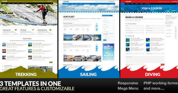Box 01 volare trekking sailing diving.  large preview