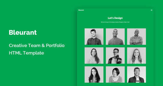 Box bleurant creative team and portfolio html template.  large preview