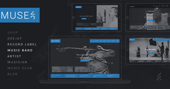 Box 01 muse a legendary multipurpose music wordpress theme.  large preview