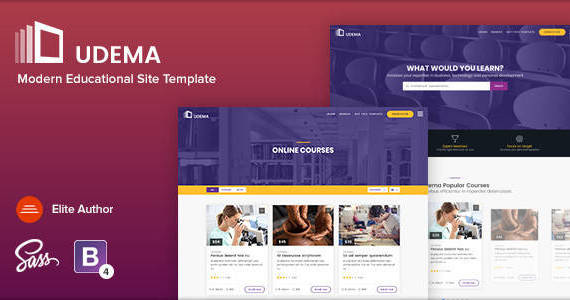 Box 01 udema modern educational template.  large preview