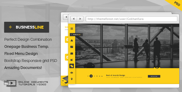 01 businessline onepage business corporate theme screen.  large preview