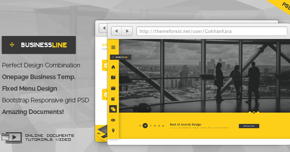 Box 01 businessline onepage business corporate theme screen.  large preview