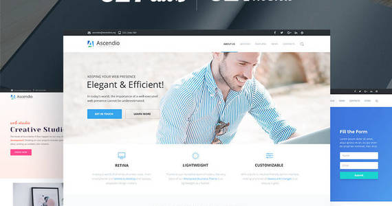 Box ascendio corporate  business wordpress theme 58924 original