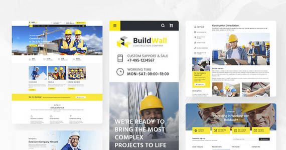 Box buildwall construction company multipurpose wordpress theme 53591 original