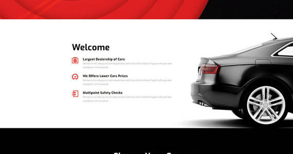 Box car rental motocms 3 landing page template 67960 original