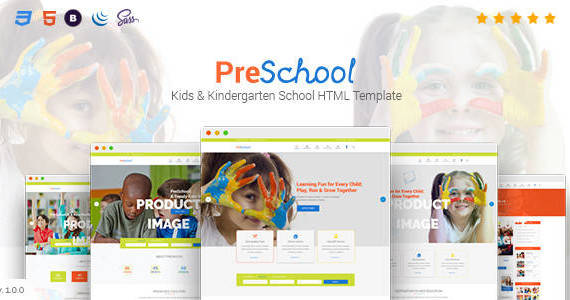 Box 01 preschool html template.  large preview