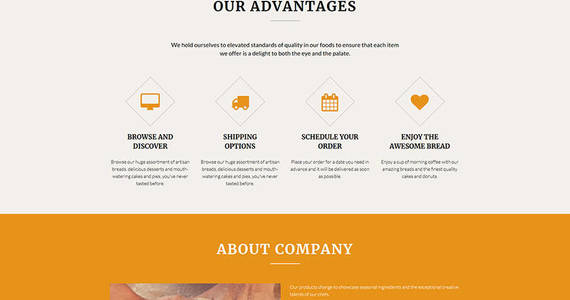 Box bakery company moto cms 3 template 68002 original