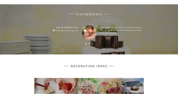 Box wedding planner responsive joomla template 62148 original