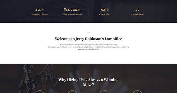Box lawyer  attorney multipage website template 62274 original
