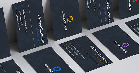 Box business card template for business analyst corporate identity template 68050 original