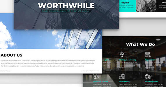Box worthwhile consulting ppt design powerpoint template 66801 original