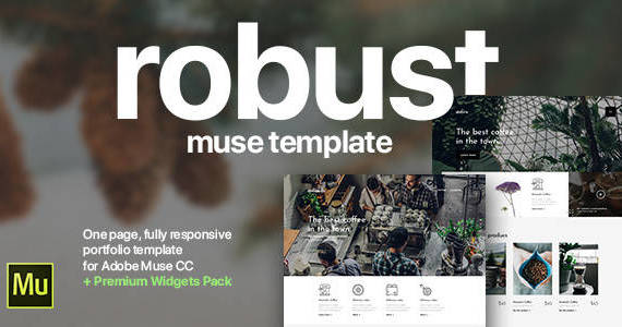 Box 01 preview adobe muse template.  large preview