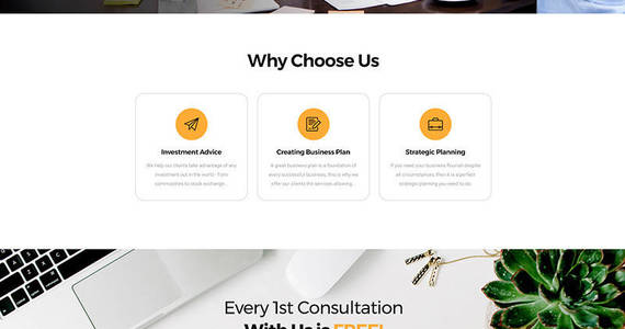 Box businezz consulting firms landing page template 67967 original