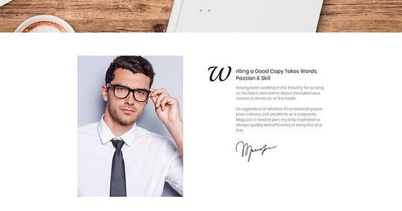 Box freelance copywriter and journalist moto cms 3 template 68169 original