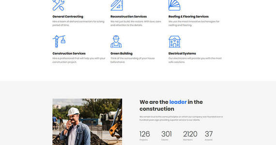 Box buildwell construction company premium moto cms 3 template 65297 original