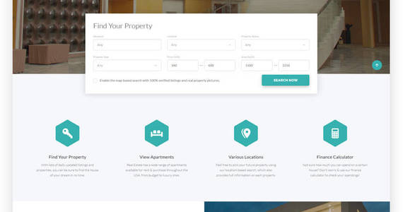Box real estate efficient housing  accommodation multipage html website template 58633 original