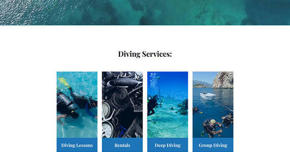 Box navyblue scuba diving club moto cms 3 template 68180 original