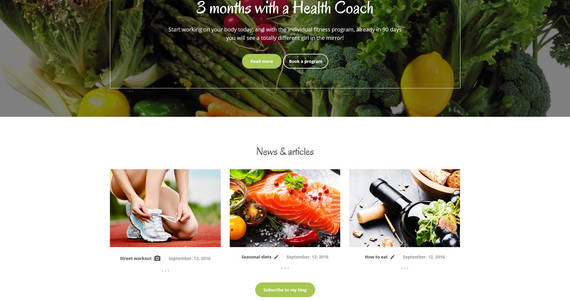 Box weight loss responsive website template 61252 original