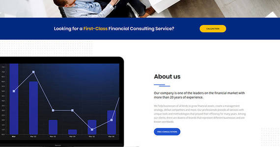 Box financial advisor motocms 3 landing page template 66382 original