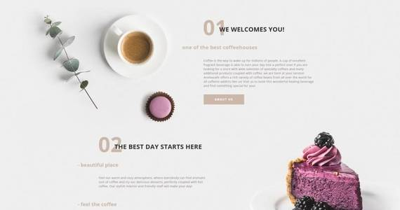 Box aromacafe coffee shop moto cms html template 68016 original