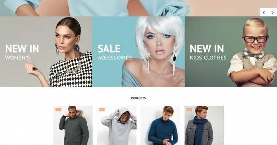 Box fashionable winter wear motocms ecommerce template 71467 original