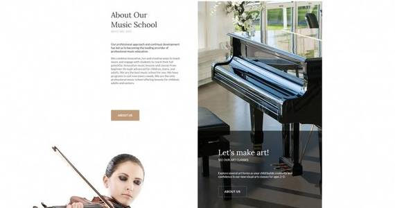 Box singerella music school moto cms html template 65279 original