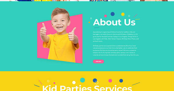 Box kiddaboo kid parties services moto cms 3 template 68253 original