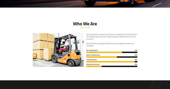 Box logistic moving company motocms 3 landing page template 66373 original