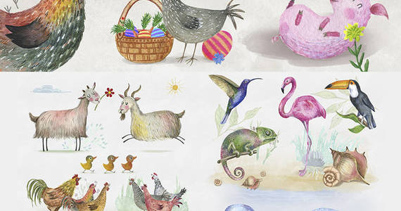 Box 1786091 1522498709410 cute 20watercolor 20animals