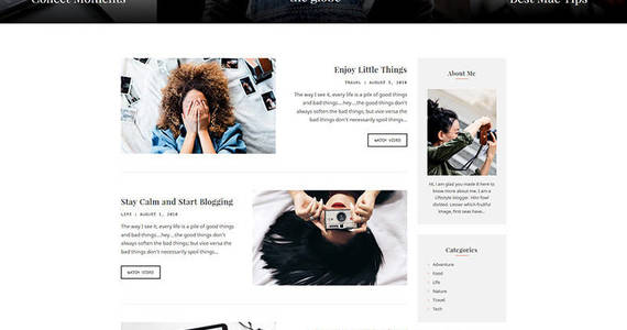 Box video blogger motocms 3 landing page template 68228 original