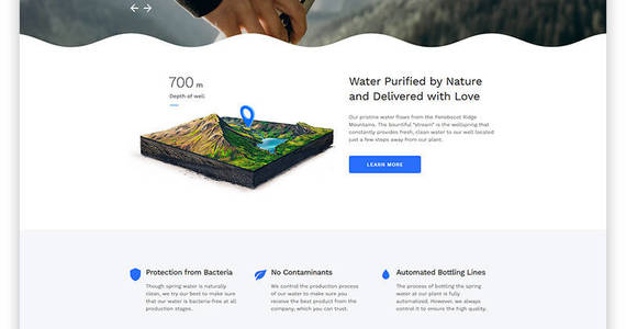 Box water multipage html5 website template 53779 original