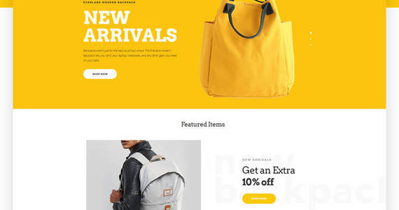 Box yellowbag opencart template 64827 original