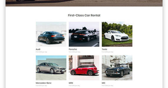 Box rent car well thought out car rental multipage html website template 48656 original