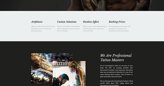 Box tattoossi tattoo salon premium moto cms 3 template 63473 original