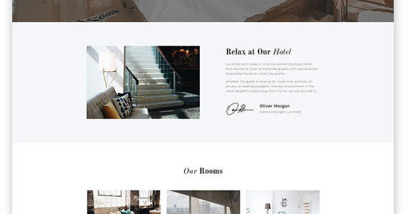 Box lux hotel hotel multipage html5 website template 52815 original
