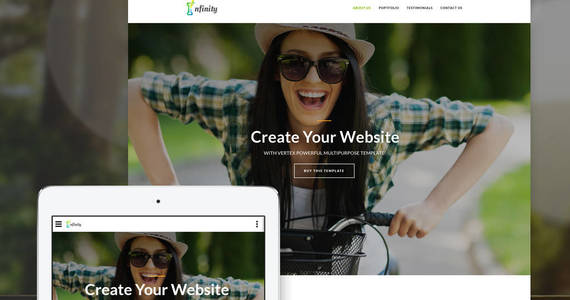 Box infinity personal landing page template 64891 original