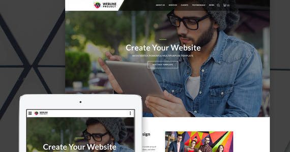 Box webline project corporate landing page template 64888 original