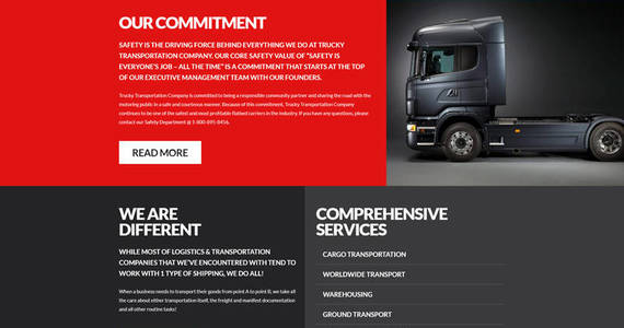 Box trucky transportation responsive joomla template 62150 original